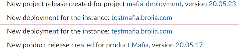 Slack notifications for Mafia Deployments