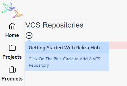 Icon to Add VCS Repository in Reliza Hub